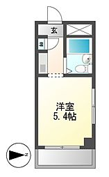 ドール東海通[5階]の間取り