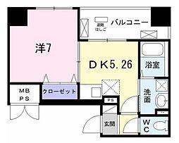 FieldーV 築地 3階1DKの間取り