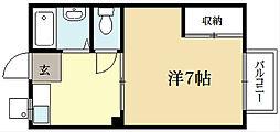 コスモハイツホクユー[1階]の間取り