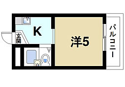 センチュリー[1階]の間取り