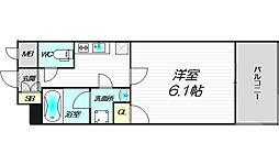 Luce Minamimorimachi 12階1Kの間取り