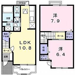 LINE PLACIDO[1階]の間取り