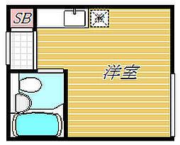 東京都江東区東砂1丁目の賃貸アパートの間取り