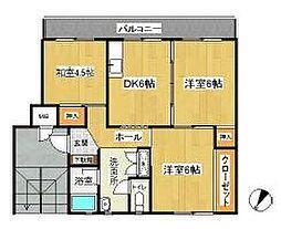 名瀬マンション[2階]の間取り