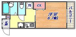 本山ヤングパレス[103号室]の間取り