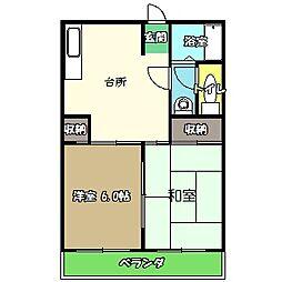 高知県高知市南はりまや町2丁目の賃貸マンションの間取り