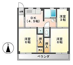ビレッジハウス各務原 1・2・3・4棟[1階]の間取り