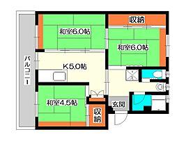埼玉県所沢市並木8丁目の賃貸マンションの間取り