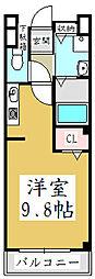 メゾン・ルミエール[1階]の間取り