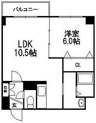 北海道札幌市中央区北五条西20丁目の賃貸マンションの間取り
