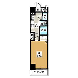 クレド桜山[2階]の間取り