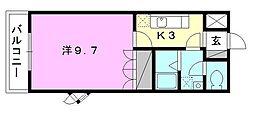 プランドール・カネキB棟[201 号室号室]の間取り