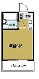 ロイヤルレスト本田[6階]の間取り