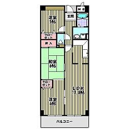 ラ・メゾンMSII[3階]の間取り