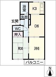 ホワイトメゾン21[2階]の間取り