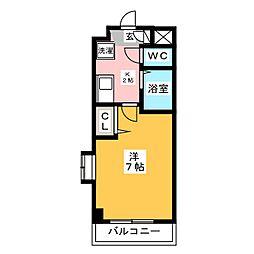 ピュア県庁北[2階]の間取り