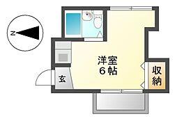 鶴田マンション[2階]の間取り