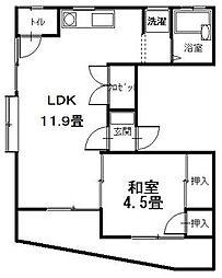 広島県呉市広中新開2丁目の賃貸アパートの間取り