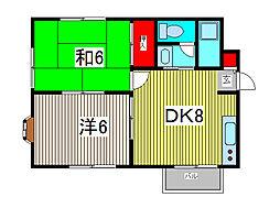 柏木ハイツ[2階]の間取り