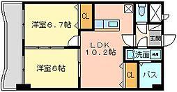 ウィークスM−one[9階]の間取り