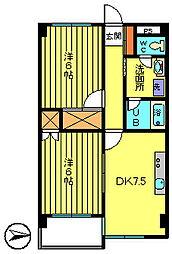 クレセントハイツ[6階]の間取り