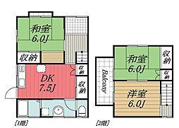 [テラスハウス] 千葉県成田市並木町 の賃貸【千葉県 / 成田市】の間取り