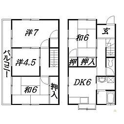 [一戸建] 静岡県浜松市中区高丘北3丁目 の賃貸【/】の間取り