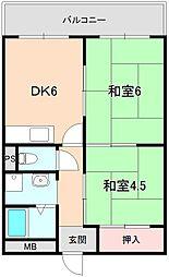 コーポ桜の町[305号室]の間取り