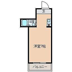 ベース浜田[506号室]の間取り