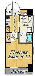 WEST VINE 1[4階]の間取り