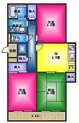 長谷川マンション1[1階]の間取り