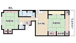 愛知県名古屋市昭和区安田通3丁目の賃貸マンションの間取り