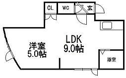 トキメック円山並木通I[203号室]の間取り