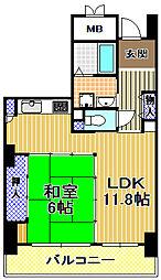 酉島リバーサイドヒルなぎさ街20号棟[8階]の間取り