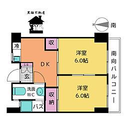 徳川園ウエストマンション[4階]の間取り