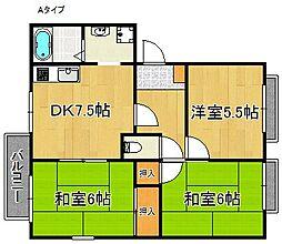 リベックス2号館[1階]の間取り