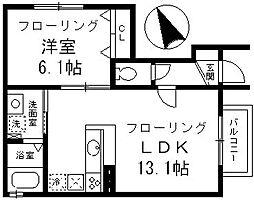 深沢シャスタ[1階]の間取り