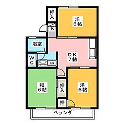 セジュール瀬戸川[2階]の間取り