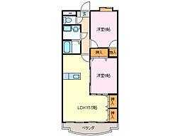 メゾンプランドール[3階]の間取り