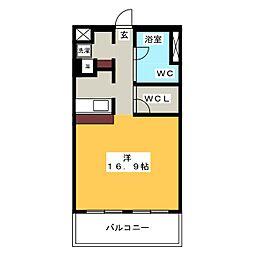 愛知県名古屋市昭和区川原通6の賃貸マンションの間取り