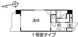 ロワジールY[9階]の間取り
