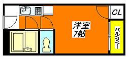 太陽・マンション 302号室[3階]の間取り