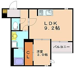 レガリスト大橋Me-ryIII[1階]の間取り