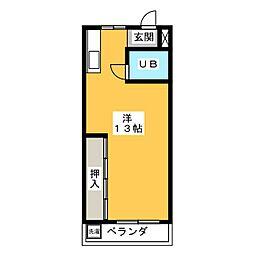 コーポ21[3階]の間取り