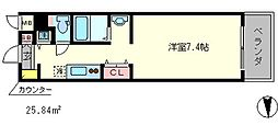 エヴァステージ京都二条[1階]の間取り