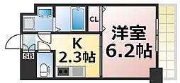 Osaka Metro千日前線 小路駅 徒歩15分の賃貸マンション 8階1Kの間取り
