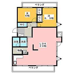 ロイヤルヴィーゼ東山元町 A棟[3階]の間取り
