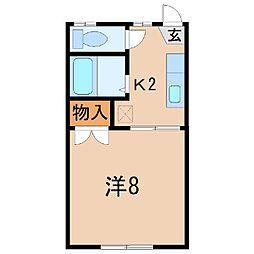 2657ラ・ポームド南福島A[1階]の間取り