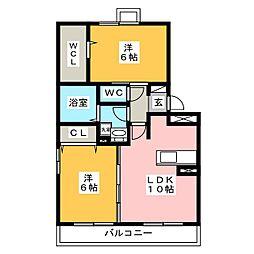 メゾン シュクレ[3階]の間取り