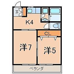 1179_佐藤アパート(清明町)[1階]の間取り